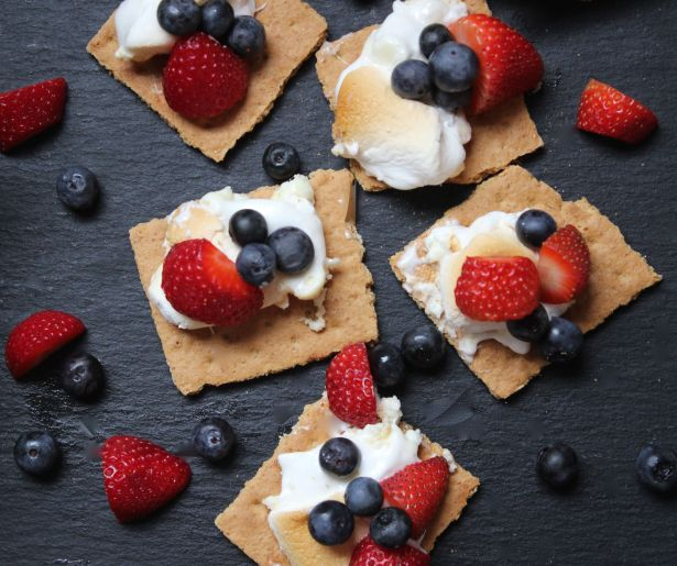 smores with berries